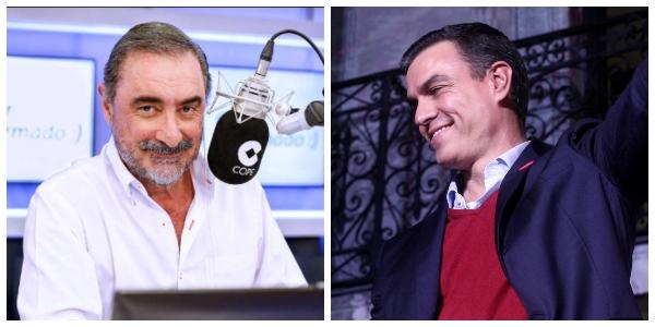 """Carlos Herrera sopapea a un 'desaparecido' Pedro Sánchez que es incapaz de plantar cara al """"delirante"""" Rufián y sus amenazas contra España"""
