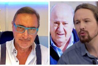 """Carlos Herrera cruje a Iglesias por volver a atacar a Amancio Ortega: """"Es un señorito rencoroso que no ha creado un empleo en su puñetera vida"""""""