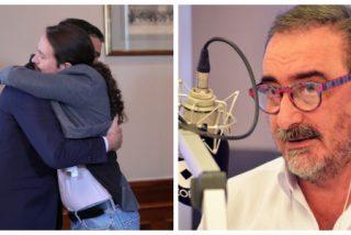 """Carlos Herrera arremete contra el """"cínico insufrible y embustero patológico"""" de Sánchez por su coalición comunista: """"Miren a Iglesias,  se le pega como un koala"""""""