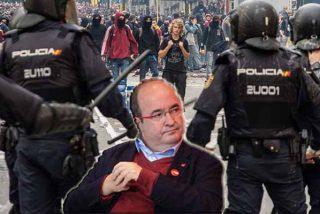Colosal cabreo de la Policía Nacional en Cataluña contra Iceta por atacarles de forma ruin como los catabatasunos en las calles