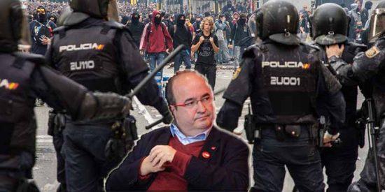 Colosal cabreo de la Policía Nacional en Cataluña contra el 'bailón' Iceta por atacarles de forma ruin como los catabatasunos en las calles