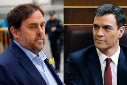 El preso Junqueras escribe a Sánchez para pedirle ahora la devolución de su bestial favor…