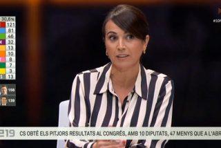 Lídia Heredia, la sectaria presentadora de 'Els Matins' en TV3, se burla de Albert Rivera