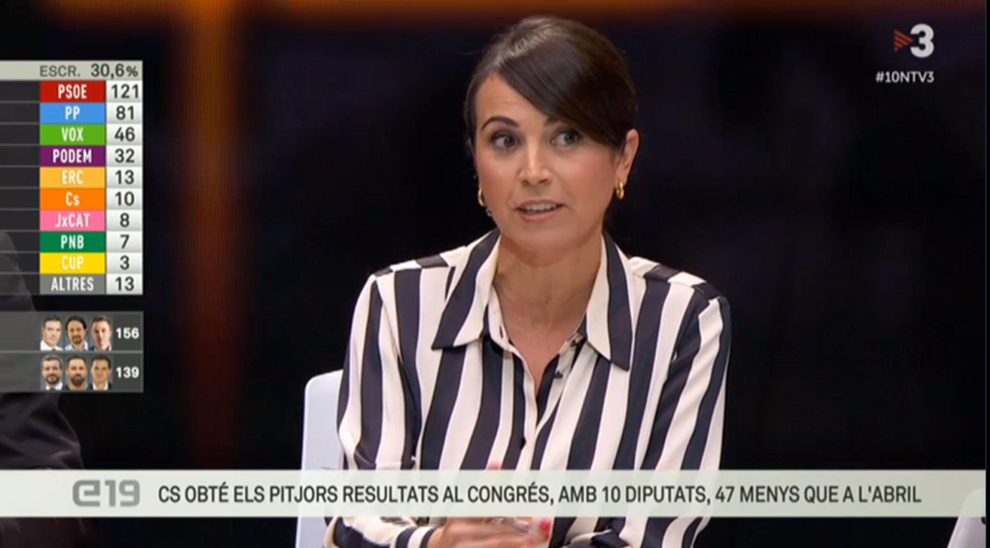 La sectaria presentadora de 'Els Matins' de TV3, como buena miserable 'indepe', se burla de Albert Rivera