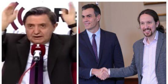 """Losantos clama contra el pacto de la infamia: """"Este golpe lo financian el IBEX, laSexta, la SER y El País... ¡Que les den!"""""""