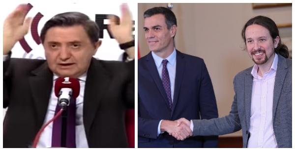 """Losantos: """"Sánchez e Iglesias sabían que el 8-M mataría gente y aun así lo mantuvieron"""""""