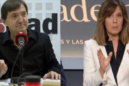 Losantos zarandea a la 'moderadora' Ana Blanco por su numerito feminista en el debate:
