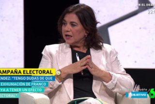 """La 'musa del rojerío' Lucía Méndez confiesa estar histérica por las encuestas que disparan a VOX: """"La papeleta con la bandera es espectacular"""""""