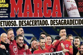 """La contundente portada de Marca contra Bale: """"Irrespetuoso, desacertado, desagradecido"""""""