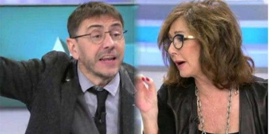 Bronca entre Ana Rosa y el lunático Monedero por el sueldo de Carlos Herrera en la COPE