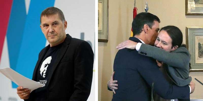 Otegi exige la liberación de Junqueras y el resto de golpistas y la autodeterminación de Cataluña y el País Vasco para apoyar al gobierno del Frente Popular