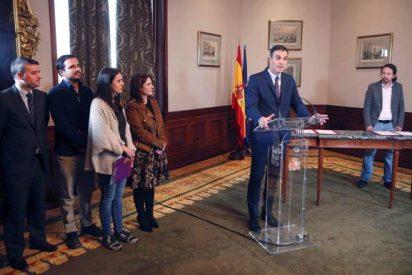 """Ante el temor de que pidieran su cabeza, Sánchez se decanta por una España """"roja y rota"""""""