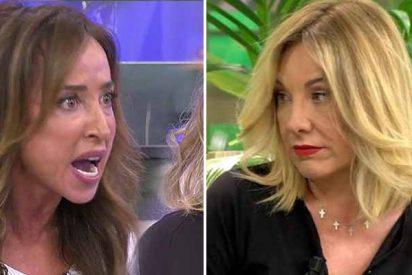 """María Patiño pierde los papeles y se larga de 'Sálvame' para no trabajar con Belén Rodríguez: """"¡Fascista!"""""""