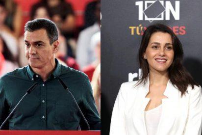 """Sánchez quiere pintar al PP como 'franquista' y Arrimadas le avisa: """"Te va a salir mal, muy mal"""""""