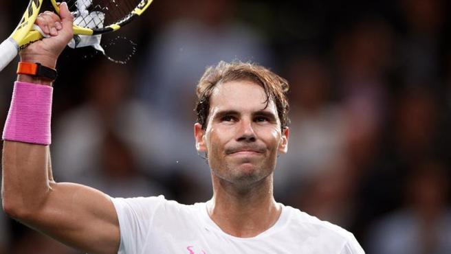 Rafa Nadal se lesiona en el calentamiento y se retira de la semifinal del Masters de París