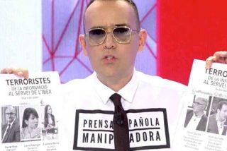 """El miserable Risto Mejide duda que los ataques a periodistas catalanes sean reales: """"Estamos en campaña electoral, no saquemos conclusiones precipitadas"""""""