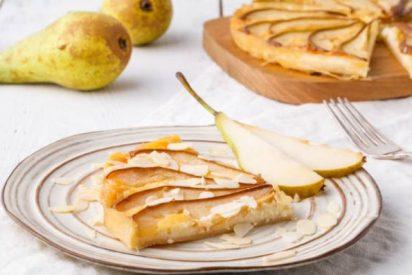 Tarta de peras con hojaldre