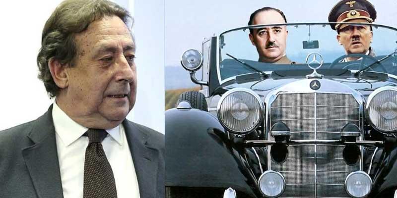 Al periodismo patrio se le atraganta la herencia: Alfonso Ussía desenmascara la mala praxis de los informativos de A3 a cuenta del Mercedes que Hitler regaló a Franco