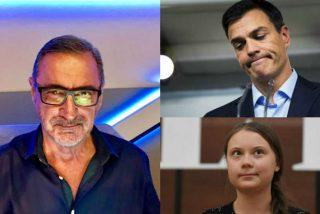 """Carlos Herrera celebra el nuevo mote del presidente del Gobierno por la Cumbre del Clima: """"Greto Sánchez es feliz"""""""