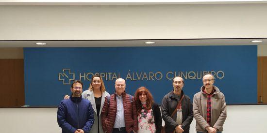 Reunión de la Junta Gobierno del Colegio logopedas de Galicia en el Hospital Alvaro Cunqueiro