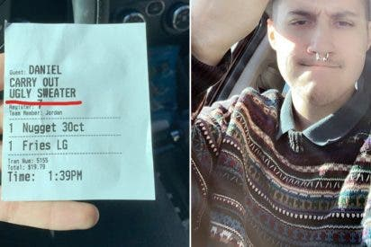 Este cliente de un restaurante recibe por accidente un ticket en el que se ridiculizaba su forma de vestir