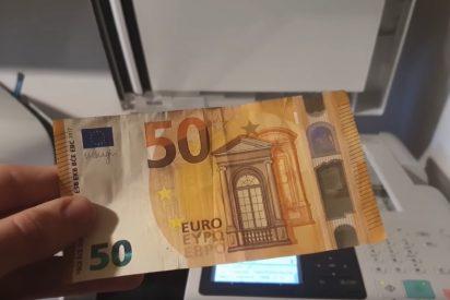 Esto es lo que pasa si intentas fotocopiar un billete de 50€