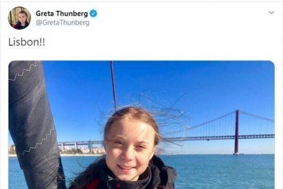 Así es el efecto óptico de esta foto de Greta Thunberg que arrasa en Twitter