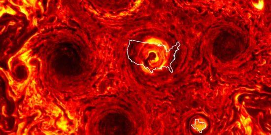 La NASA descubre esta nueva tormenta del tamaño de Texas que completa un gigantesco hexágono de ciclones en Júpiter