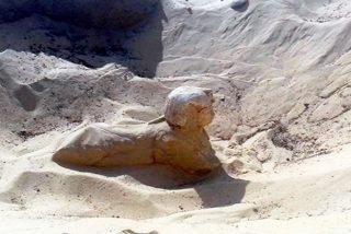 """Descubren en Egipto una esfinge real con """"rasgos claros y hermosos"""""""