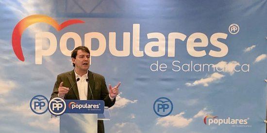 """Fernández Mañueco: """"Pedro Sánchez actúa como un trilero político"""""""