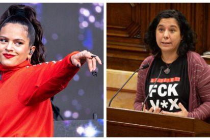 """Una diputada de Podemos se pone demasiado 'flamenca' y se marca un Rosalía en pleno Parlamento de Cataluña: """"Fuck VOX"""""""