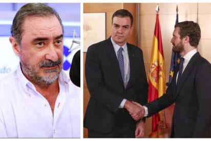 """La """"carita de asco"""" de Sánchez a los constitucionalistas que pone de muy mala leche a Herrera de buena mañana"""