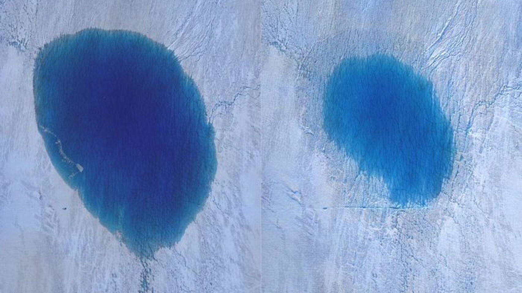 """Estas nuevas fotos captadas por drones demuestran el derretimiento """"catastrófico"""" de Groenlandia"""
