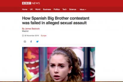 La BBC hunde mundialmente a Telecinco tras analizar la presunta violación en 'Gran Hermano'