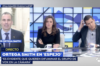 Ortega Smith abronca y ridiculiza al socialista Juan Segovia en TV