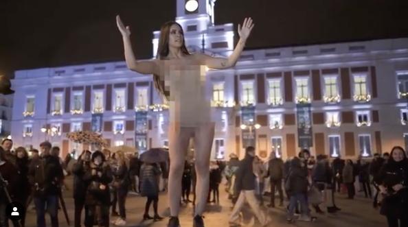 Cristina Pedroche ha enloquecido: se 'desnuda' con un montaje para promocionar sus Campanadas
