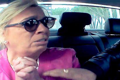 Un fan enloquecido 'secuestra' a Carmen Borrego cuando iba en el coche de producción de Telecinco
