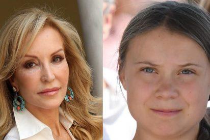 "Carmen Lomana también sacude a Greta Thunberg: ""Esta niña es patética"""