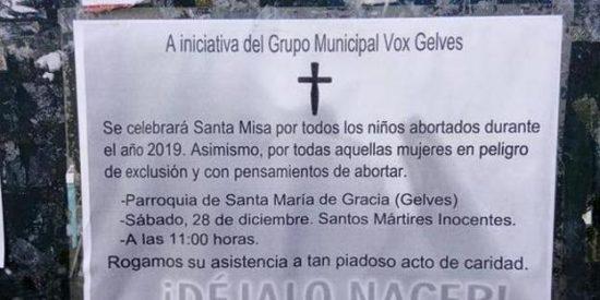 El Arzobispado de Sevilla desautoriza la misa de Vox en memoria de los niños abortados
