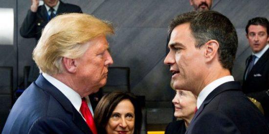 Cumbre de la OTAN: Trump incluye entre los 'delincuentes' que no han invertido lo prometido en Defensa al 'moroso' Sánchez