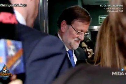"""Rajoy a un reportero de Pedrerol': """"En el Chiringuito no tenéis para rotuladores…"""""""