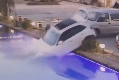 Este perro 'sin carnet de conducir' se pone al volante y lanza el coche de su dueño a un estanque