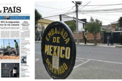 El País hace de felpudo de Sánchez y Podemos ocultando el escándalo de los diplomáticos españoles en Bolivia