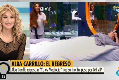Alba Carrillo regresa al programa 'Ya es mediodía' y resulta una tomadura de pelo