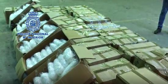 La Policía Nacional decomisa en Cataluña el mayor alijo de metanfetamina de la historia de España: 631 kilos