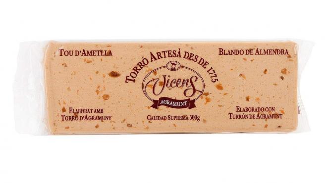 El Ministerio lanza una alerta sanitaria sobre este turrón blando de almendra de la marca Vicens