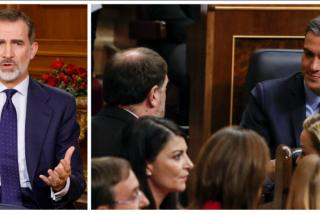 Felipe VI provoca el soberano enmudecimiento de un Sánchez empeñado en lisonjear al sedicioso Junqueras