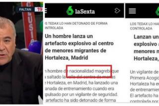 ¡Más 'periodismo'! Épica pillada a laSexta por querer ocultar la nacionalidad del atacante del centro de los MENAS en Hortaleza