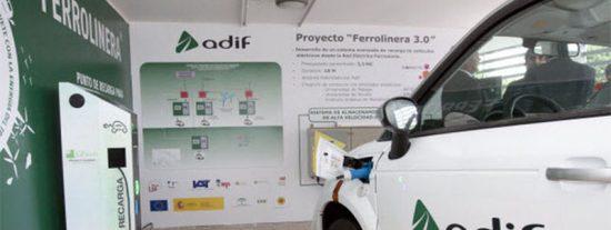 Las ferrolineras serán los puntos de recarga de los coches eléctricos