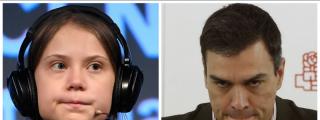 Las caras de Sánchez y sus mariachis de Moncloa son todo un poema: Greta Thunberg les deja sin la foto más deseada